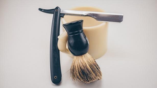 Bart Konturen rasieren Pinsel Bartschaum