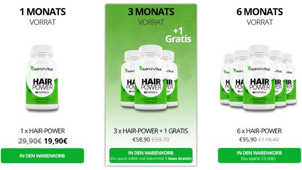 NaroVital Hair Power Rabatte und Sonderangebote